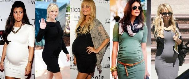 Vestido justo para grávidas
